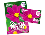 2 For 1 Gardens to Visit Card and Guide