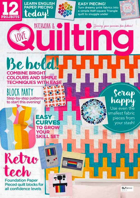 Love Patchwork Quilting Magazine Subscription
