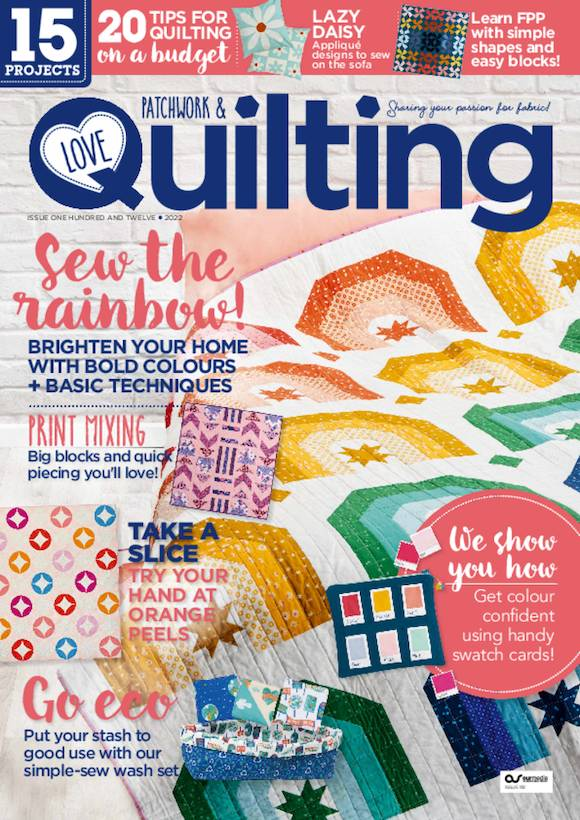 Love Patchwork & Quilting Magazine  half price special offer on subscriptions.