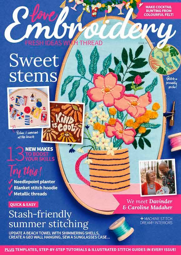 Love Embroidery Magazine  half price special offer on subscriptions.