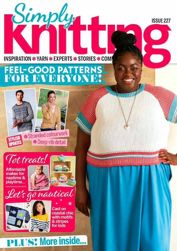 Cover: Simply Knitting magazine