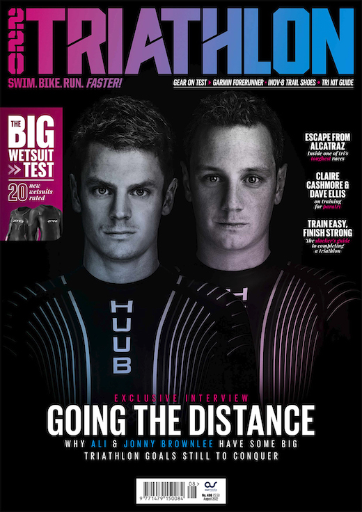 Cover: 220 Triathlon magazine