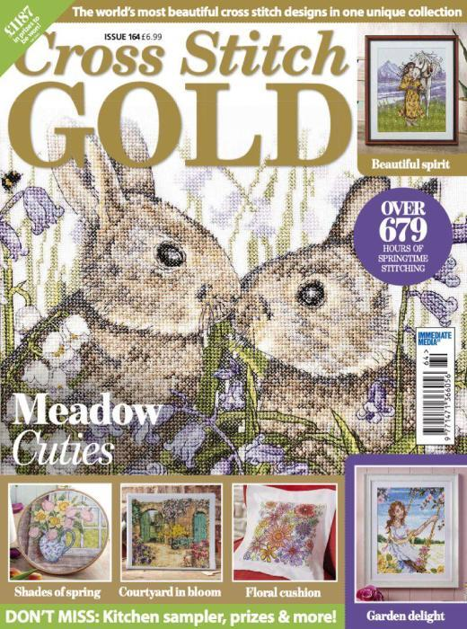 cross stitch gold magazine cover