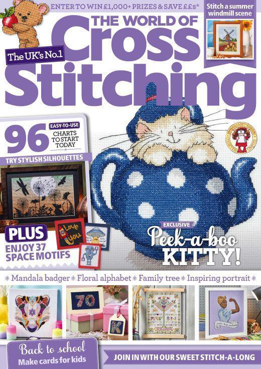 world of cross stitch magazine cover