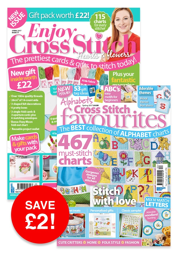Cross Stitch Favourites Spring 2017 and Enjoy Cross Stitch Spring 2017 Bundle