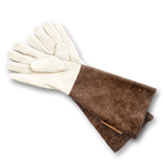 Gardens Illustrated branded suede gauntlets