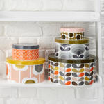 Orla Kiely set of 5 tins